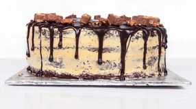 Kaka för chokladfuskverk, överträffad godis Bekläda beskådar Royaltyfri Foto