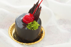 Kaka för chokladmousse Arkivfoto