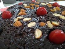 Kaka för chokladtryffel arkivbild