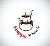 Kaka för kort för lycklig födelsedag vektor illustrationer