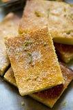 Kaka för limefruktduggregnolivolja royaltyfri foto
