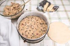 Kaka för påsk för Simnel kaka traditionell brittisk Fotografering för Bildbyråer