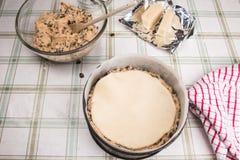 Kaka för påsk för Simnel kaka traditionell brittisk Arkivfoton