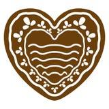 Kaka för pepparkaka för julhjärtaform royaltyfri illustrationer