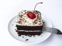 Kaka för svart skog för kaffe Royaltyfri Fotografi