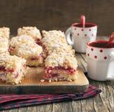 Kaka för tranbärgräddostkaffe Royaltyfri Bild