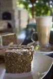Kaka- och iskaffe Royaltyfri Foto