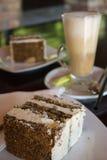 Kaka- och iskaffe Royaltyfria Foton