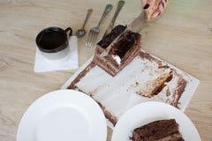 Kaka och kaffe på tabellen Royaltyfri Fotografi