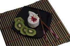 Kaka på en plattasvart om en kiwi, den bästa sikten Royaltyfria Foton