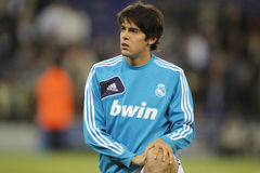 Kaka of Real Madrid. Before the Spanish League match between Espanyol and Real Madrid at the Estadi Cornella on May 11, 2013 in Barcelona, Spain stock photo