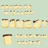 Kakaabc Ljusbrunt gulligt alfabet vektor illustrationer