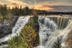 Kakabeka cai parque provincial em Ontário fotografia de stock