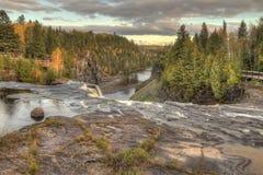 Kakabeka valt Provinciaal Park in Ontario royalty-vrije stock foto