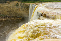 The kakabeka waterfall in ontario, canada Royalty Free Stock Photo