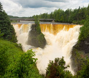 The kakabeka waterfall in ontario, canada Stock Image