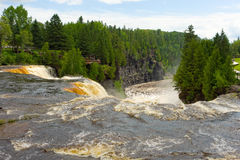 The kakabeka waterfall in ontario, canada Royalty Free Stock Images
