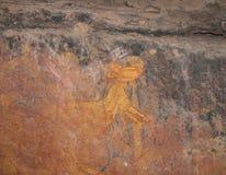 Kakadu, западная Австралия, 06/10/2013, аборигенное искусство утеса в Nourlangie, национальном парке Kakadu, северных территориях Стоковое фото RF