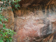 Kakadu, zachodnia australia, 06/10/2013, aborygen rockowa sztuka w Nourlangie, Kakadu park narodowy, terytorium północni, Austral Obrazy Royalty Free