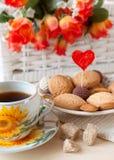 kakaförälskelsetea Royaltyfri Bild