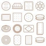 Kakan, smällaren och den ljusbruna översiktssymbolen ställde in stock illustrationer