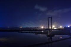 从Kakanad喀拉拉的夜场面 库存照片