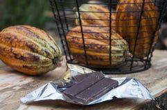 Kakao i czekolada fotografia stock