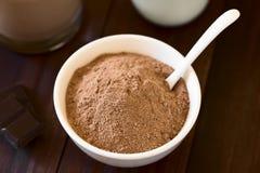 Kakao lub Czekoladowy napoju proszek obrazy stock