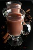 Kakao lub czekolady gorący napój obraz royalty free