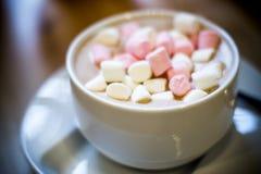 Kakao mit Eibischen Bonbons und Freudenfoto durch ZVEREVA lizenzfreies stockbild