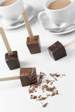 Kakao na badylu obraz stock
