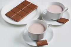 Kakao och choklad Arkivfoto
