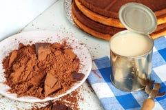 Kakao och kakor Royaltyfria Bilder
