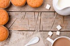 Kakao och muffin Arkivbild