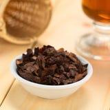 Kakao Shell Flakes royaltyfri fotografi