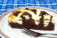 Kakao tort z kremowym serem Zdjęcie Royalty Free