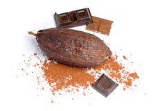 Kakao und Schokolade Stockbild