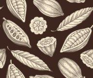 Kakao wzór Zdjęcia Royalty Free