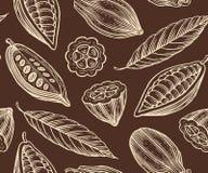 Kakao wzór Zdjęcie Stock