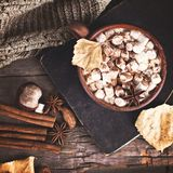 Kakao z marshmallow obrazy royalty free