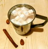 Kakao z marshmallows obraz stock