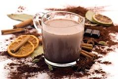 Kakaodrink med garneringen Fotografering för Bildbyråer