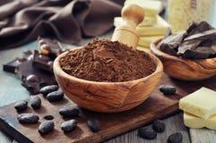 Kakaopulver Arkivfoto
