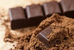 Kakaopulver Arkivfoton