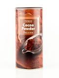 Kakaopulver Baka eller dricka Tesco som eget märke badar Arkivfoto
