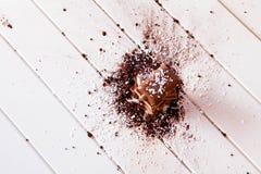 Kakaopulver och choklad Royaltyfri Foto