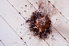 Kakaopulver och choklad Arkivbilder