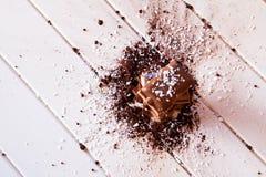 Kakaopulver och choklad Arkivfoton
