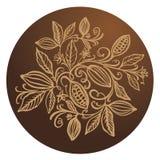 Kakaowe fasole ilustracyjne Czekoladowe kakaowe fasole Wektorowy illustra Zdjęcie Stock
