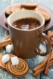 Kakaowy napój Zdjęcia Royalty Free